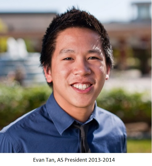 Evan Tan - President Associated Students 2013-14